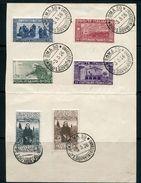 ITALIE- Y&T N°186 à 191- Oblitérés Sur Feuillet - Usati