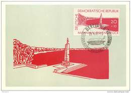 1957  Ravensbrück Mahnmal  MiNr 567   Erstagstempel - Cartes-Maximum (CM)