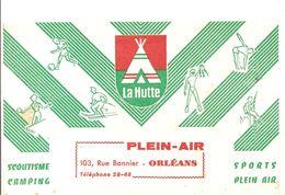 Buvard LA HUTTE Camping Scoutisme Sport Plein Air 103, Rue Bannier à Orléans - Sports