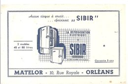 Buvard SIBIR La Réfrigération électrique Matelor 10, Rue Royale à Orléans - Electricité & Gaz