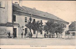 EGER ROSSZ TEMPLOM KASZARNYA BAROSS NYOMDA HUNGARIA HUNGRIA CPA ANIMEE RARE DOS DIVISE CIRCA 1910 - Hongarije