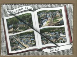 CPM    -  Souvenir De Loeuilly   -  (Somme ) - Le Château - La Place - Rue Principale - L'église - (livre Ouvert ) - Otros Municipios