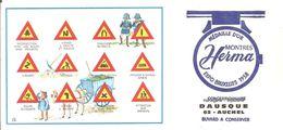 Buvard HERMA Montres Herma Code La Route DAUSCHE Concessionnaire à AUCHEL (62) - Buvards, Protège-cahiers Illustrés