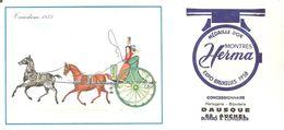 Buvard HERMA Montres Herma Tandem 1855 DAUSCHE Concessionnaire à AUCHEL (62) - Buvards, Protège-cahiers Illustrés