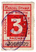 (I.B) London & North Western Railway : Parcel Stamp 3d (Manchester) - 1840-1901 (Victoria)