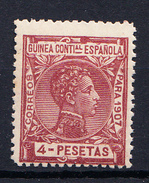 GUINEA 1907 EDIFIL Nº 56 . 4 PESETAS   ALFONSO XIII NUEVO SIN  CHARNELA  CECI 2  Nº 131 - Guinea Española