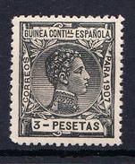 GUINEA 1907 EDIFIL Nº 55 . 3 PESETAS   ALFONSO XIII NUEVO SIN  CHARNELA  CECI 2  Nº 131 - Guinea Española