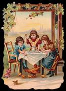 CHROMO DECOUPIS SANS PUB - Petit Déjeuner En Jardin - Impr. Landsberg - 130x90 Mm - Enfants