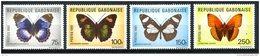 Gabon, 1981, Butterflies, Insects, Animals, MNH, Michel 800-803 - Gabon