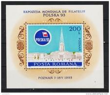 1993 -  Expo Philatelique Polska 93  Mi No Bl 281 MNH - 1948-.... Republiken