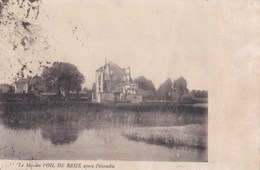 Carte 1920 Le MOULIN DE POIL DE REUX APRES L'INCENDIE - La Fleche