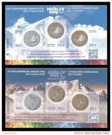 Russia 2014 Mih. Bl.198I/200I Olympic And Paralympic Winter Games In Sochi. Overprints (2 Blocks) MNH ** - Unused Stamps