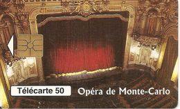 CARTE-PUBLIC-MONACO-50U-MF46-GEM B-07/97-OPERA DE MONTE CARLO-Série 003-UTILISE-TBE - Monaco