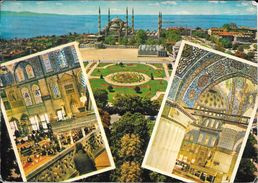 SULTAN AHMET MOSQUE AND IT'S INTERIOR ISTANBUL TURKEY CPSM CIRCULEE A BUENOS AIRES L'ARGENTINE YEAR 1973 - Turkije