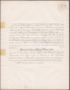 BRUXELLES Révolution 1830 Comte Philippe VILAIN XIIII Décoré De La Croix De Fer 79 Ans 1856 Famille BASEL BAZEL - Todesanzeige