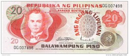 Philippines - Pick 155 - 20 Piso 1974 - Unc - Filippine