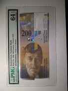 Switzerland 200 Franken 1994 P73a Graded 64 EPQ By PMG (Choice UNCIRCULATED) - Switzerland