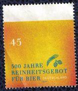 Allemagne 2016 Sans Gomme Et Plié à Gauche Reinheitsgebot Décret De Pureté De La Bière SU - [7] République Fédérale