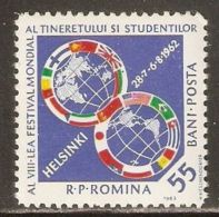 Romania 1962 Mi# 2068 ** MNH - 8th Youth Festival For Peace And Friendship, Helsinki - 1948-.... Republics