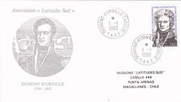 FDC TAAF N° Yvert 152 (DUMONT D'URVILLE) Obl Sp 1990 - Französische Süd- Und Antarktisgebiete (TAAF)