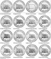 TURKEY 2015 Flags Set Of 16 Coins UNC - Turquie