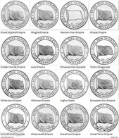 TURKEY 2015 Flags Set Of 16 Coins UNC - Türkei