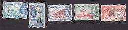 Cayman Islands, Scott #141-145, Used, Elizabeth II And Scene Of Cayman Islands, Issued 1953 - Kaimaninseln