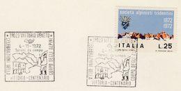 1972  Vittorio CORPO DELGLIA ALPINI  EVENT COVER Card Italy Stamps Alpine Mountain Climbing Mountaineering Military - Climbing