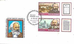 NICARAGUA  MANAGUA  Centenaire De La Mort D  Karl Marx 1818/1883  4/10/82 - Karl Marx