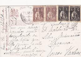 Portugal -Circulou Para Torres Vedras  -em 25 -6 -1919 - Açores