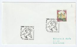 1987 TORINO International  SPORT FILM  FESTIVAL EVENT COVER Italy Cinema  Movie Stamps - Cinema