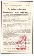 DP EZ Emma Mullie Zr. Gerarda ° Oostende 1877 † 1938 Klooster Priorij Poperinge - Devotion Images