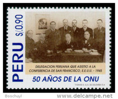 Peru, 1995, United Nations 50th Anniversary, MNH, Michel 1555 Tab - Peru