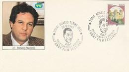 1987 RENATO POZZETTO Italy FUNNY FILM  FESTIVAL EVENT COVER Boario Card Cinema  Movie Stamps - Cinema
