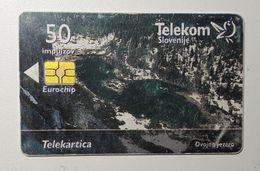 SLOVENIA Lake Dvojno Jezero  Commerce Conference Phonecard 50 Impulz - Slovenia