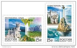 Russia 2014 Mih. 2047/48 Regions Of Russia. Crimea And Sevastopol MNH ** - 1992-.... Federation