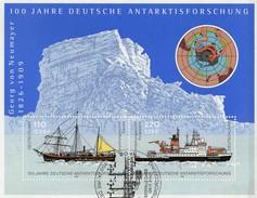 Antarktisforschung 2001 BRD Block 57+FDC 14€ Schiffe Gauß/Polarstern S/s Bloc Ships Sheet M/s Cover Bf BUND Germany - Preserve The Polar Regions And Glaciers