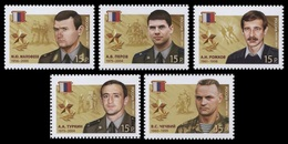 Russia 2014 Mih. 2018/22 Heroes Of Russia MNH ** - Unused Stamps