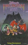 Télécarte ARGENT NEUVE Japon / 110-211817 - DISNEY DISNEYLAND - HALLOWEEN 2000 - Japan MINT SILVER Phonecard Bat - Disney
