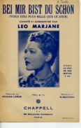 CAF CONC 40 60 LEO MARJANE PARTITION BEI MIR BIST DU SCHÖN JACQUES LARUE SHOLOM SECUNDA 1937 - Film Music