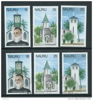 Nauru 1977 Christmas Churches Set Of 3 Both MNH & FU - Nauru
