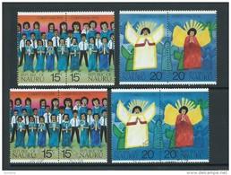 Nauru 1976 Christmas Set Of 2 Pairs Both MNH & FU - Nauru