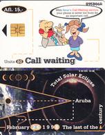 ARUBA(chip) - Total Solar Eclipse 1998, Call Waiting, 09/98, Used - Aruba