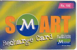 SRI LANKA - Sri Lanka Telecom/Mobitel Recharge Card Rs.100, Used - Sri Lanka (Ceylon)