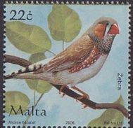 Malta 2006 Bird Zebra MNH 1V - Malta