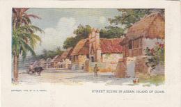 Original Vintage Postcard: Street Scene In Assan, Island Of Guam - Copyright 1904 W.R Hearst - Undivided Back - 2 Scans - Guam