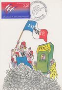 Carte  Maximum  1er  Jour  Bicentenaire  De  La   REVOLUTION   FRANCAISE   AURILLAC   1989 - Révolution Française