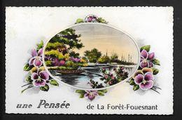 Pensée De La Foret Fouesnant Près De Quimper CPSM Finistère  Bretagne - La Forêt-Fouesnant