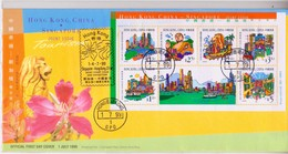 1999 Hong Kong- Singapore Joint Issue On Tourism Stamps And Sheetlet FDC - 1997-... Speciale Bestuurlijke Regio Van China