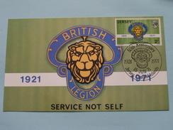 50th Anniversary BRITISH LEGION ( Service Not Self ) 1971 ( Zie Foto ) ! - Jersey